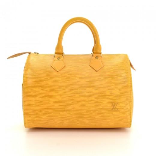 Louis Vuitton Vintage Louis Vuitton Speedy 25 Yellow Epi Leather ... 6f380e4d6d471