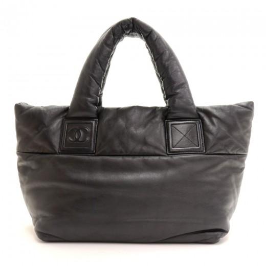c4ce9c9495fb Chanel Chanel Reversible Cocoon Black Lambskin Leather Tote Hand Bag