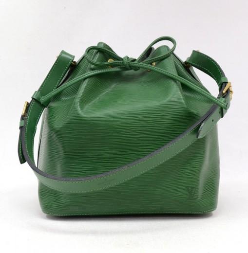 914ab06173c6 Louis Vuitton Louis Vuitton Green Epi Leather Petit NOE Shoulder Bag
