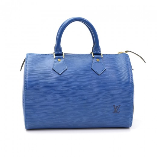 34efe4a3cf7a Louis Vuitton Vintage Louis Vuitton Speedy 25 Blue Epi Leather City ...