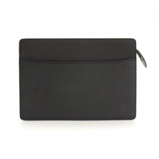 c61c4139de07 Louis Vuitton Louis Vuitton Pochette Homme Black Epi Leather Clutch ...
