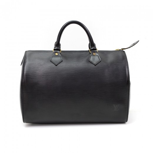 25ab70e1a50b3 Louis Vuitton Vintage Louis Vuitton Speedy 30 Black Epi Leather City ...