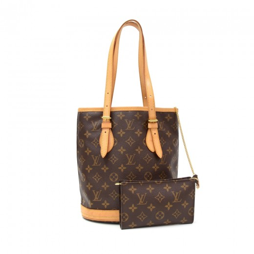 7f9c4d1531 Louis Vuitton Louis Vuitton Bucket PM Monogram Canvas Shoulder Bag