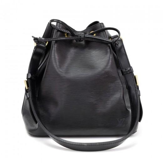 297982ac3155 Louis Vuitton Louis Vuitton Petit Noe Black Epi Leather Shoulder Bag