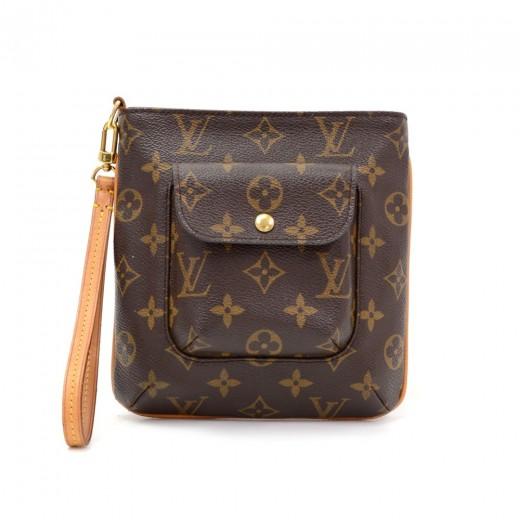 88c5f634de5b Louis Vuitton Louis Vuitton Partition Monogram Canvas Wristlet Bag