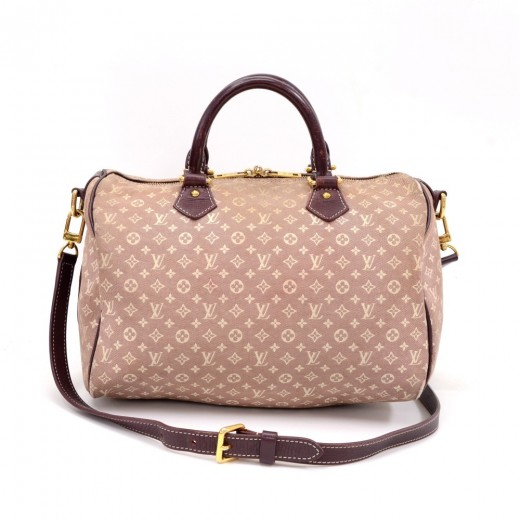 Louis Vuitton Speedy Bandouliere 30 Purple Sepia Mini Monogram Idylle 2Way  Bag 31607ca409c13