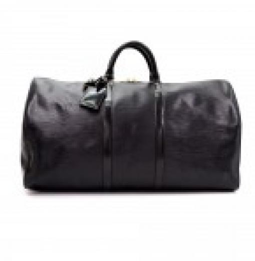 d958175a671 Louis Vuitton Louis Vuitton Keepall 55 Black Epi Leather Duffle ...