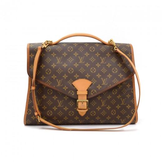 bf965c66a617 Vintage Louis Vuitton Beverly GM Monogram Canvas Briefcase Handbag + Strap