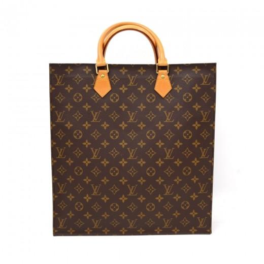 851cd0a359ff Louis Vuitton Sac Plat Monogram Canvas Tote Hand Bag. Condition  Excellent