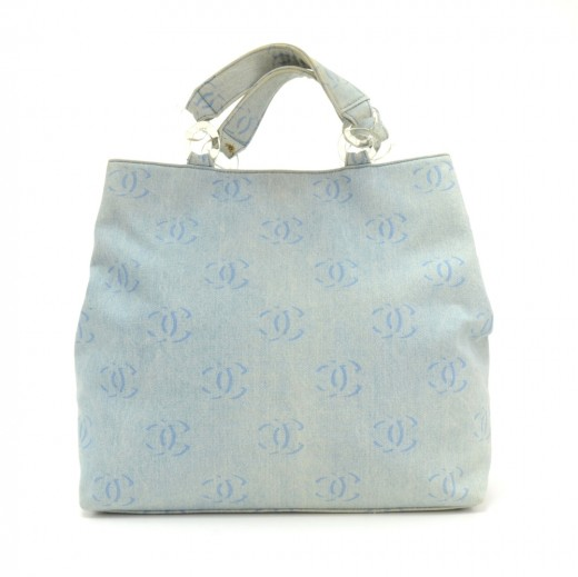dc9eaf9b433d Chanel Chanel Denim CC Logo Lagre Tote bag