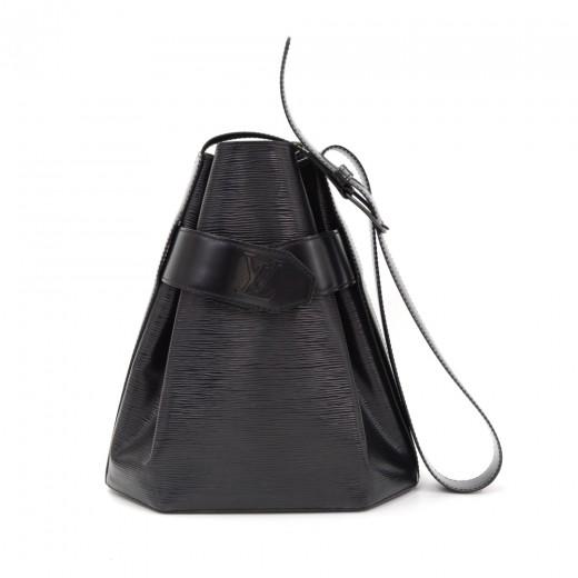 82b53bdec887 Louis Vuitton Vintage Louis Vuitton Sac Depaule PM Black Epi Leather ...