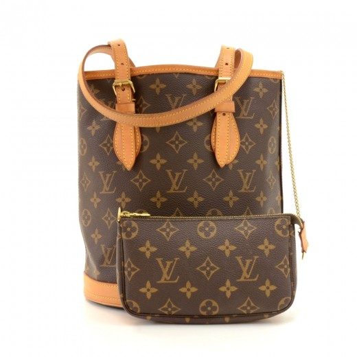 9448e5953174 Louis Vuitton Louis Vuitton Bucket PM Monogram Canvas Shoulder Bag