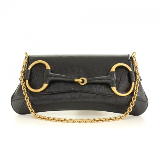 e243f6aa3e73 Gucci Gucci Black Leather Shoulder Pochette Bag