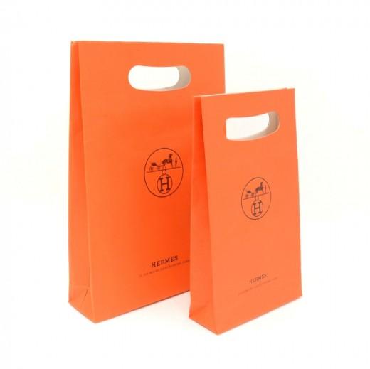 Hermes Hermes Orange Small Shopping Bag Set of 2