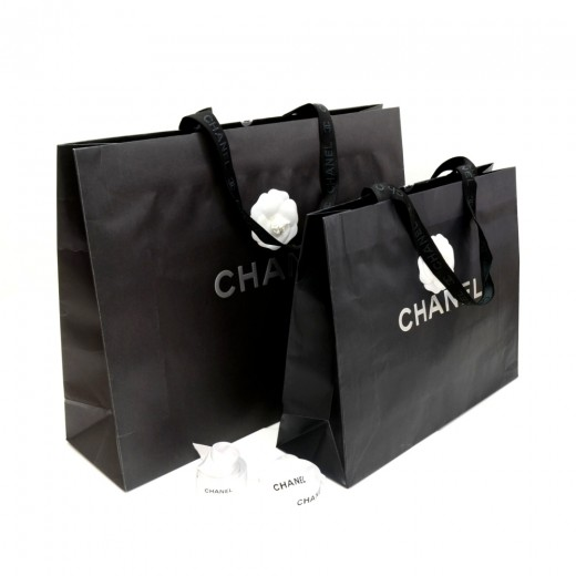 8f017e01990d Chanel Chanel Black Large Shopping Bag Set of 2 + Camellia Charm