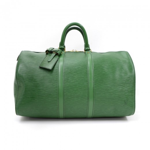 e29a4b703934 Louis Vuitton Vintage Louis Vuitton Keepall 45 Green Epi Leather ...