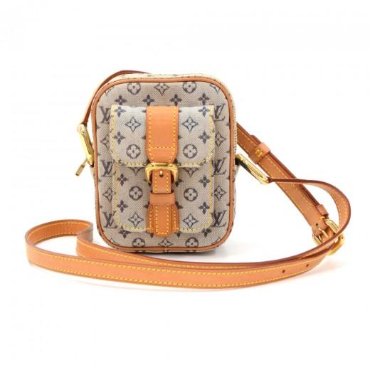 Louis Vuitton Juliette PM Blue Mini Lin Monogram Canvas Pochette Bag fb3f4cb44ee85