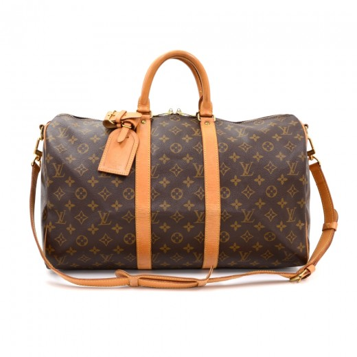 Vintage Louis Vuitton Keepall 45 Bandouliere Monogram Canvas Duffle Travel  Bag + Strap 164abd5a48f4c