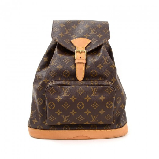 e7b33a53112cd Louis Vuitton Louis Vuitton Montsouris GM Monogram Canvas Backpack ...