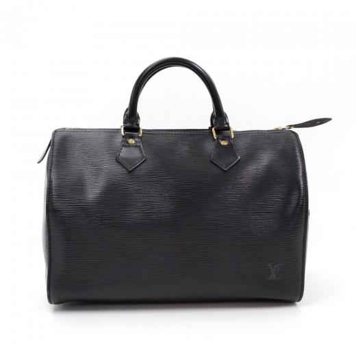 b53e3a6e3b7f Louis Vuitton Vintage Louis Vuitton Speedy 30 Black Epi Leather City ...