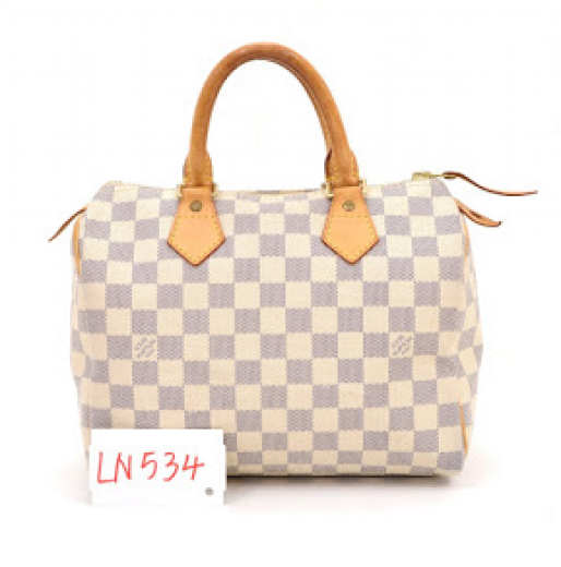 f4c4b0a59faa Louis Vuitton Louis Vuitton Speedy 25 White Damier Azur Canvas City ...