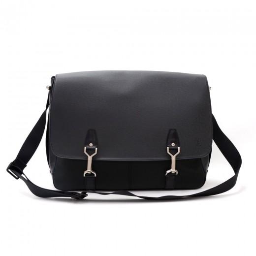 784ae5972dfd Louis Vuitton Louis Vuitton Dersou Black Ardoise Taiga Leather Large ...