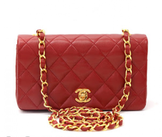 7da6d59c5222 Chanel Chanel Red Quilted Leather Shoulder Classic Flap Mini Bag