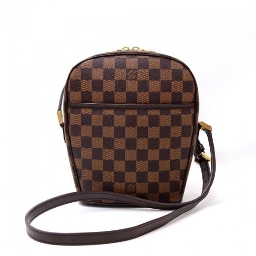 a6c12fd04f640 Louis Vuitton Louis Vuitton Ipanema PM Ebene Damier Canvas Shoulder ...