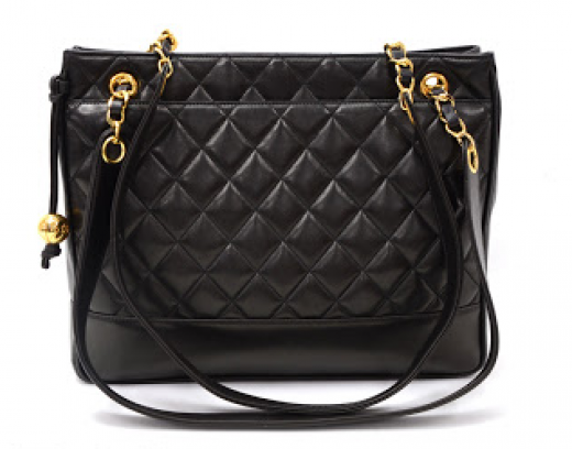 f6ee1abe81a2 Chanel B36 Vintage Chanel 12inch Black Quilted Leather Medium ...