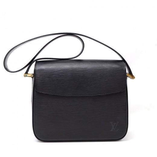 Louis Vuitton Byushi Black Epi Leather Shoulder Bag OXEUCD
