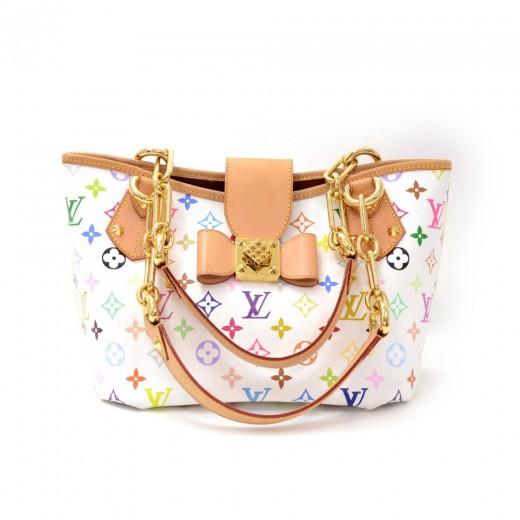 8dd7ff99ee Louis Vuitton Louis Vuitton Annie MM White Multicolor Monogram ...