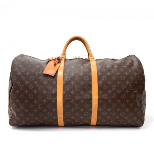 acc22cbd186a0 Louis Vuitton Louis Vuitton Keepall 60 Monogram Canvas Duffle Travel ...