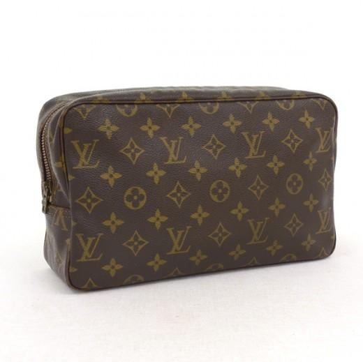 a8c0ed5fadbc Louis Vuitton Vintage Louis Vuitton Brown Monogram Canvas Trousse ...
