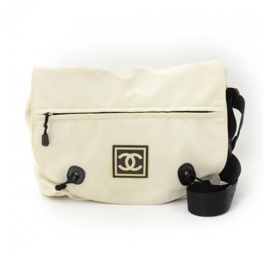 Chanel Chanel Sports Line White Nylon Messenger Bag 5f0026a81574a