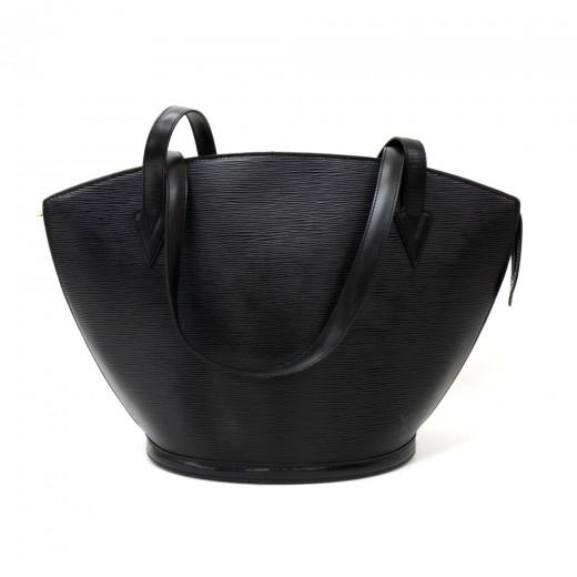 144e0996a081 Vintage Louis Vuitton Saint Jacques GM Black Epi Leather Shoulder Bag
