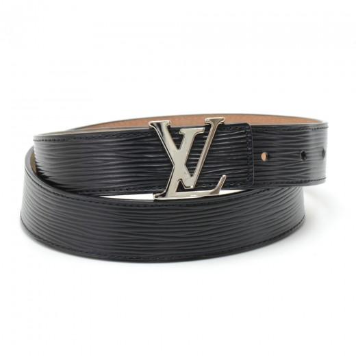 bfd70b46d30c Louis Vuitton Louis Vuitton Ceinture LV Initiales 30mm Black Epi ...