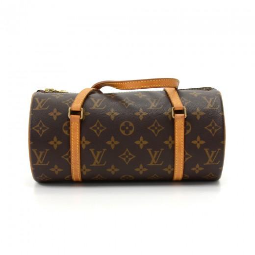 Louis Vuitton Papillon 27 Monogram Canvas Hand Bag LVs95A