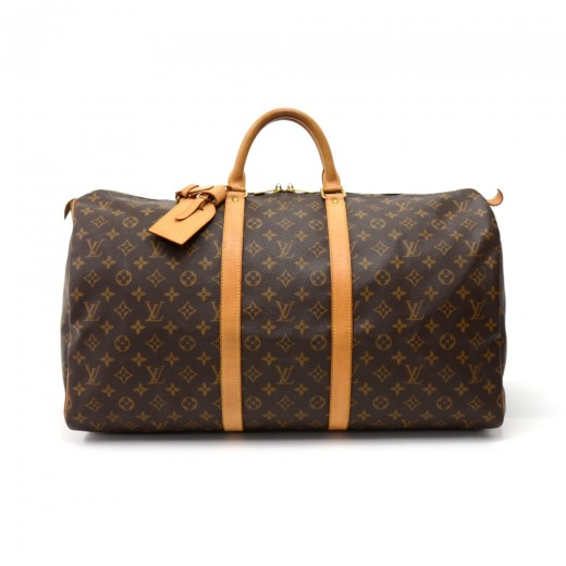 Louis Vuitton Vintage Louis Vuitton Keepall 55 Monogram Canvas ... b7f7d46583f35