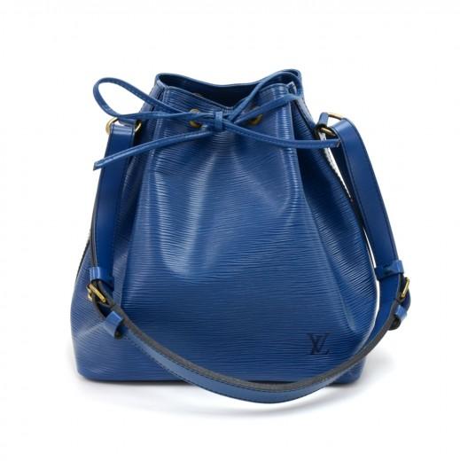 c9eb2e652426 Louis Vuitton Vintage Louis Vuitton Petit Noe Blue Epi Leather ...