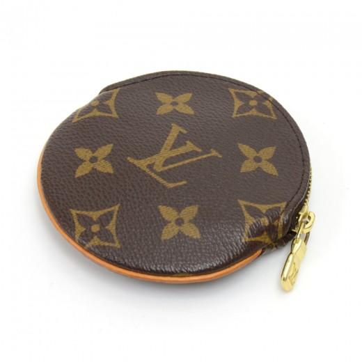 Louis Vuitton Louis Vuitton Porte Monnaie Rond Monogram Canvas Coin ... fe9417c31b2