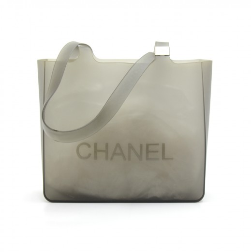 06cf5885186 Chanel Chanel Gray Jelly Rubber Shoulder Tote Bag