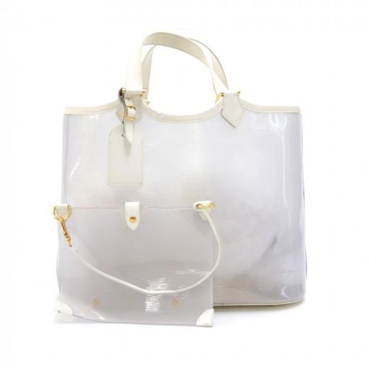 Louis Vuitton Louis Vuitton Plage Lagoon White Vinyl Beach Tote Bag f2ed15acac07a