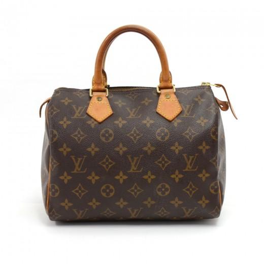 Louis Vuitton Speedy 25 Monogram Canvas City Hand Bag GKXB6