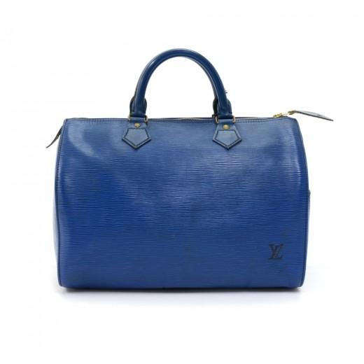 a8835d5573f8 Louis Vuitton Vintage Louis Vuitton Speedy 30 Blue Epi Leather City ...