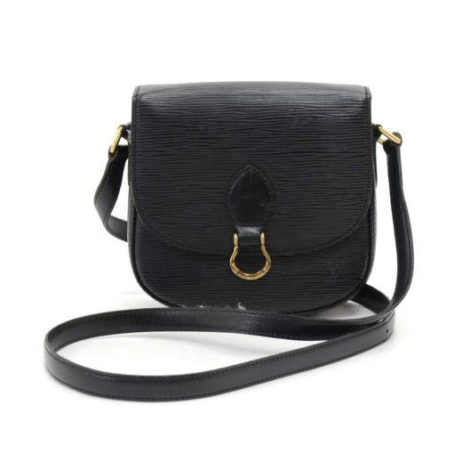 26fd8c6bfaaf Vintage Louis Vuitton Mini Saint Cloud Black Epi Leather Crossbody Bag