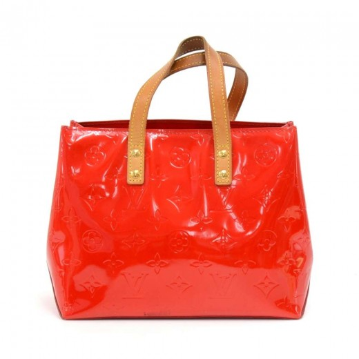 3ce8798a2 Louis Vuitton Louis Vuitton Reade PM Red Vernis Leather Hand Bag