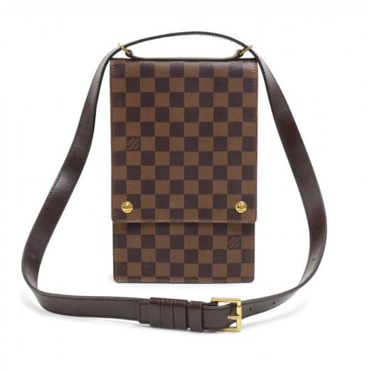 07e8295e5a76 Louis Vuitton Louis Vuitton Portobello Ebene Damier Canvas Crossbody ...