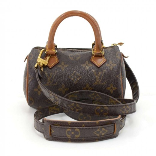 41741b137ecc Vintage Louis Vuitton Mini Speedy Sac HL Monogram Canvas Hand Bag + Strap