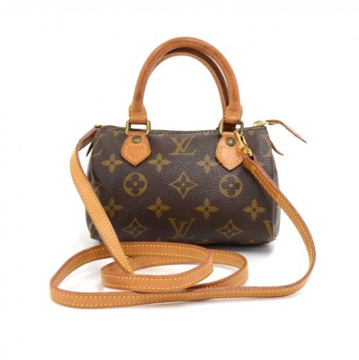 8ec9c5a655e8f Vintage Louis Vuitton Mini Speedy Sac HL Monogram Canvas Hand Bag + Strap