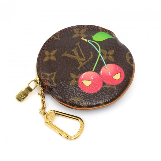 f1346e411fb Louis Vuitton Louis Vuitton Porte Monnaie Round Monogram Cherry ...